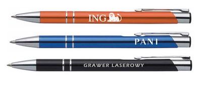 Długopisy reklamowe cosmo z logo