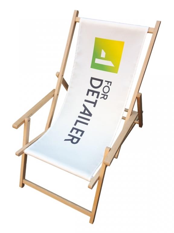 leżak reklamowy z podłoekitnikami
